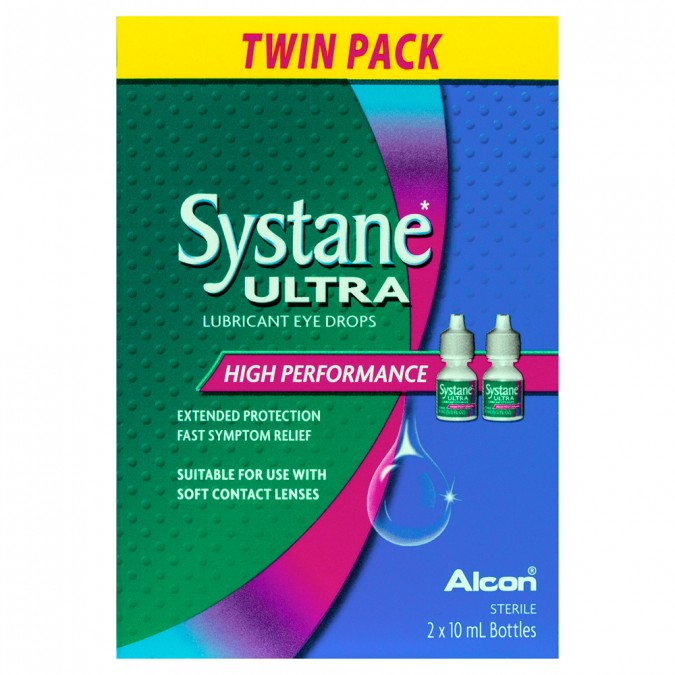 SYSTANE Ultra Lubricant Eye Drops 10mL 2 Pack