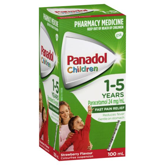 PANADOL Children 1-5 Years Fever & Pain Relief - Strawberry Flavour 100mL