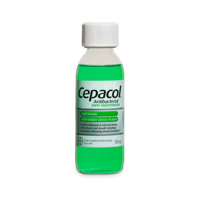 CEPACOL Antibacterial Mouthwash Mint 150mL