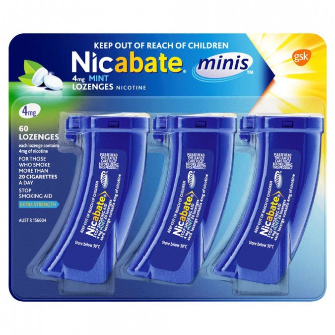 NICABATE Minis Quit Smoking Lozenge 4mg 60 Pieces