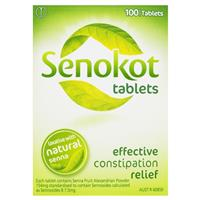 SENOKOT Laxative Constipation Relief 100 Tablets