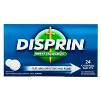 DISPRIN Direct Chewable 24 Tablets