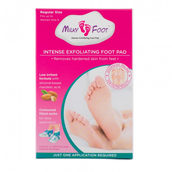 MILKY FOOT Exfoliating Foot Pads - Regular 1 Pair