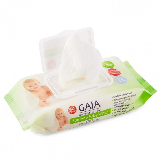 GAIA Natural Baby Bamboo Wipes 80 Wipes - Best Buy Pharmacy