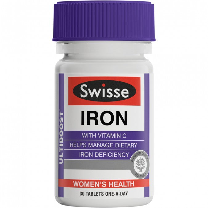 SWISSE Ultiboost Iron 30 Tablets