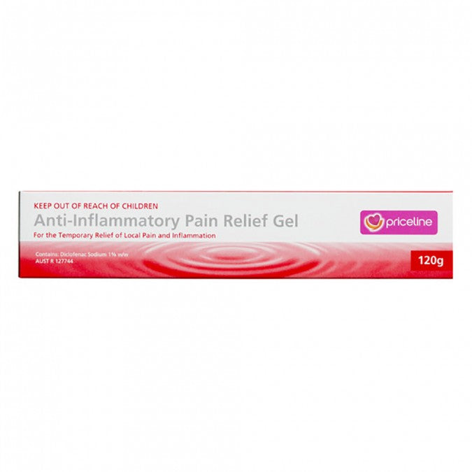 PRICELINE Anti-Inflammatory Pain Relief Gel 120g