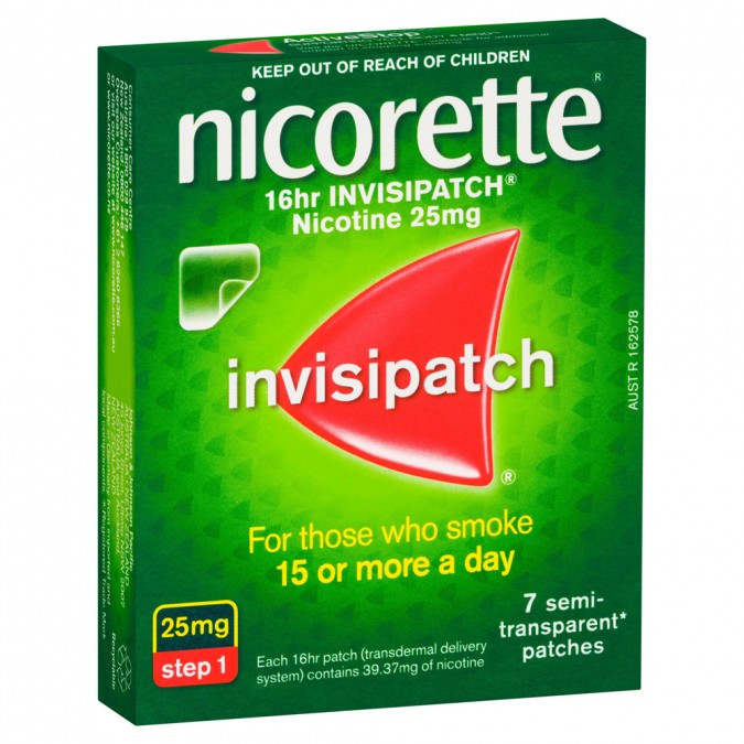 NICORETTE Quit Smoking 16hr Invisipatch 25mg 7 Patches