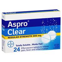 ASPRO Clear Pain Relief 24 Soluble Tablets