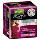 DEPEND Real Fit Underwear for Women - Medium 8 Pack
