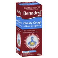 BENADRYL PE Chesty Cough & Nasal Congestion Berry Flavour 200mL