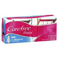 CAREFREE Flexia Tampons Regular 16 Pack