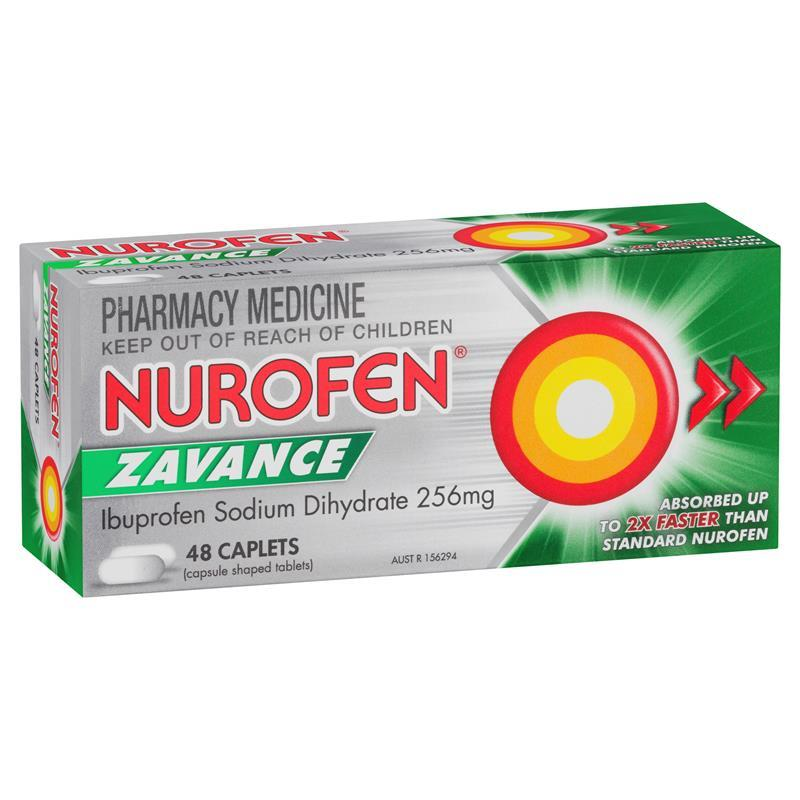 Nurofen Zavance 48 Caplets - Best Buy Pharmacy
