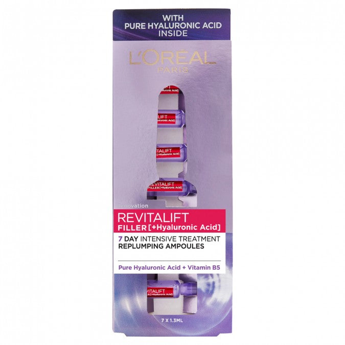 L'ORÉAL PARIS Revitalift Filler [HA] 7 Day Replumping Ampoules 7x1.3mL