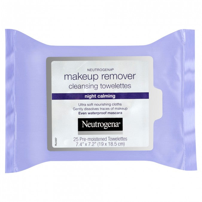 NEUTROGENA Makeup Remover Cleansing Towelettes Night Calming 25 Pack