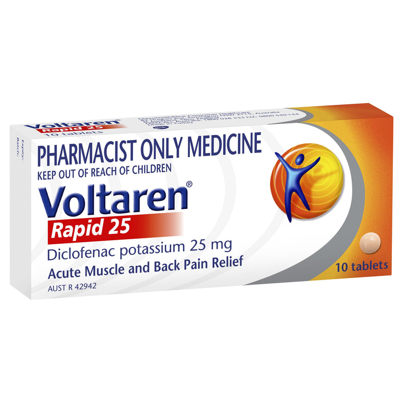 VOLTAREN Rapid 25mg 10 Tablets