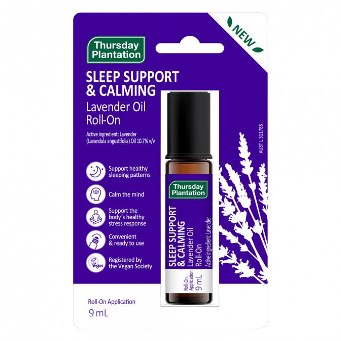 THURSDAY PLANTATION Sleep Support & Calming Lavender Oil Roll-On 9mL