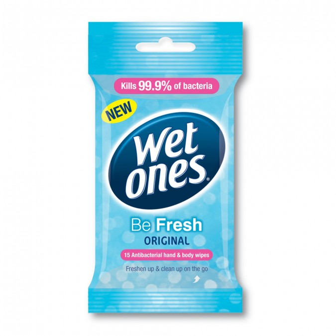 WET ONES Be Fresh Original Antibacterial Wipes 15 Wipes