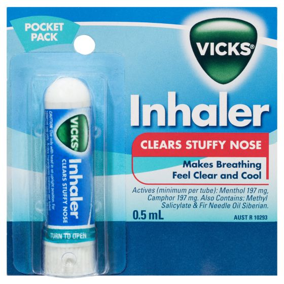 VICKS Nasal Spray Decongestant Inhaler 0.5mL