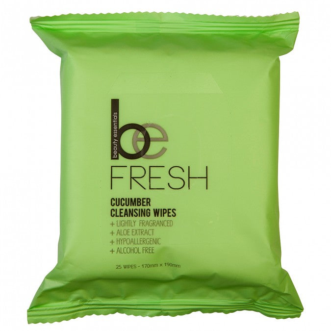 BEAUTY ESSENTIALS Cucumber Cleansing Wipes 25 Wipes