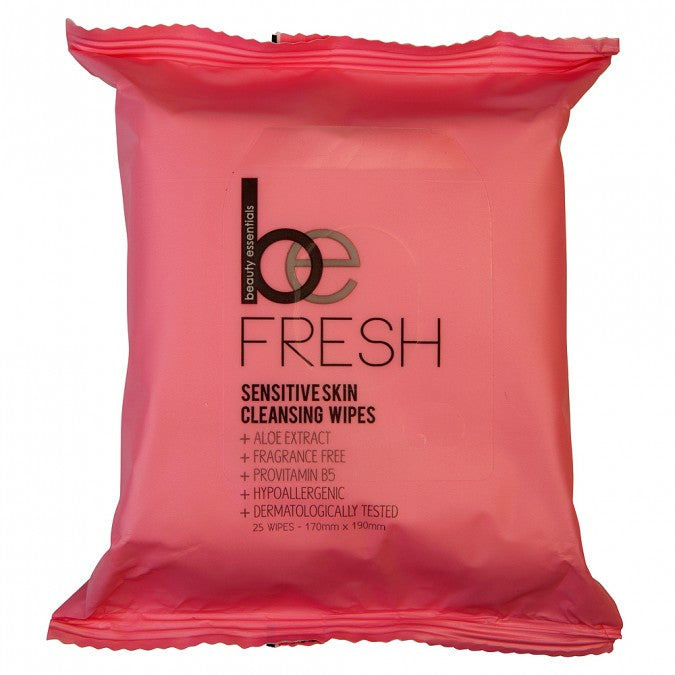 BEAUTY ESSENTIALS Sensitive Skin Cleansing Wipes 25 Wipes