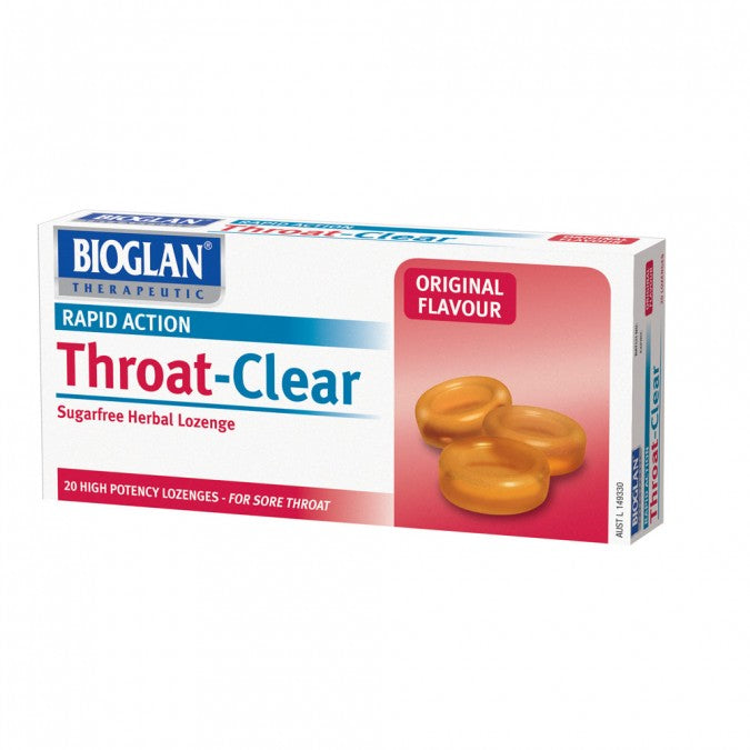 BIOGLAN Throat Clear Original Lozenges 20 Lozenges