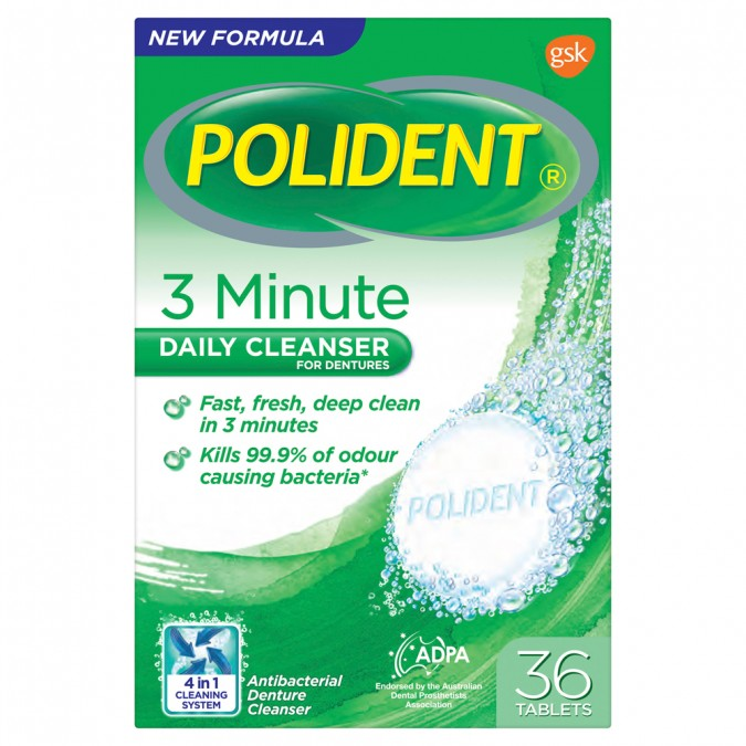 POLIDENT Fresh Active Express Denture Cleanser 36 Tablets