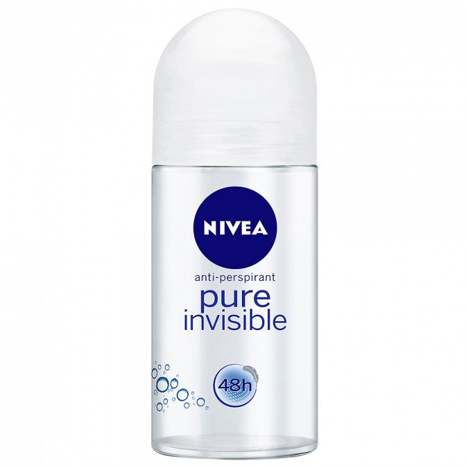 NIVEA Antiperspirant Roll-On Deodorant Pure Invisible 50mL