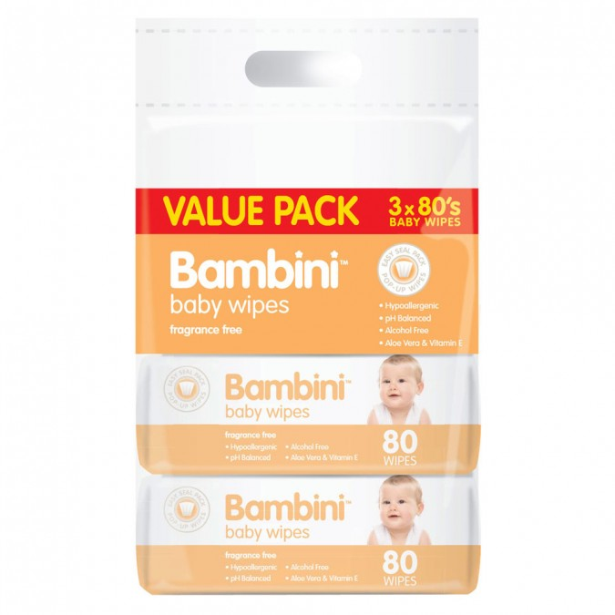 BAMBINIÊBaby Wipes Value Pack 240 Wipes