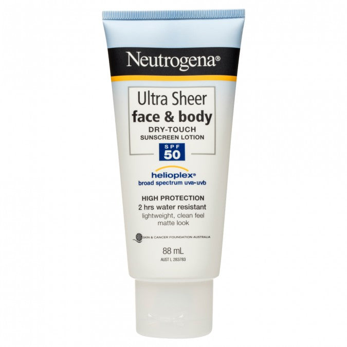 NEUTROGENA Ultra Sheer Face & Body Sunscreen Lotion SPF50 88mL