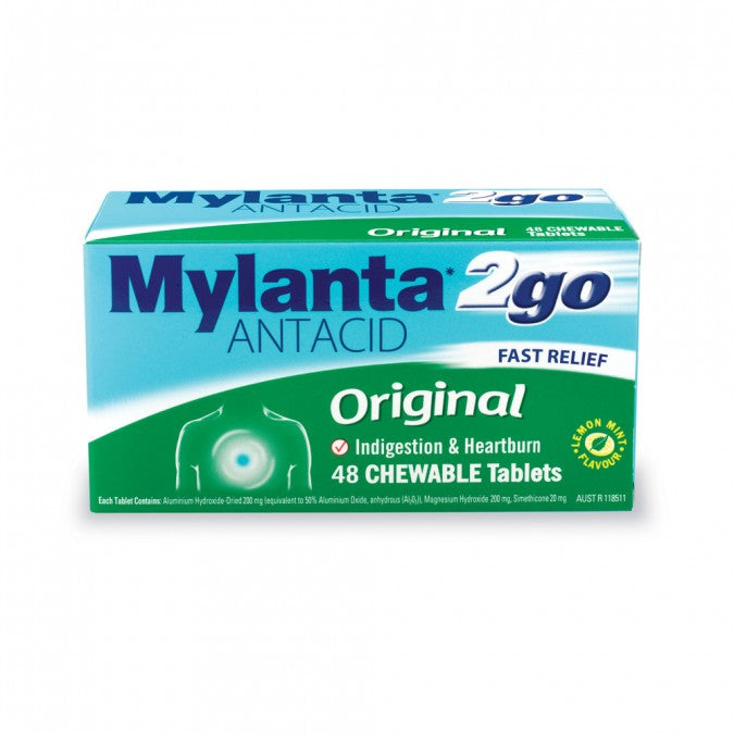 MYLANTA 2 Go Original 48 Chewable Tablets