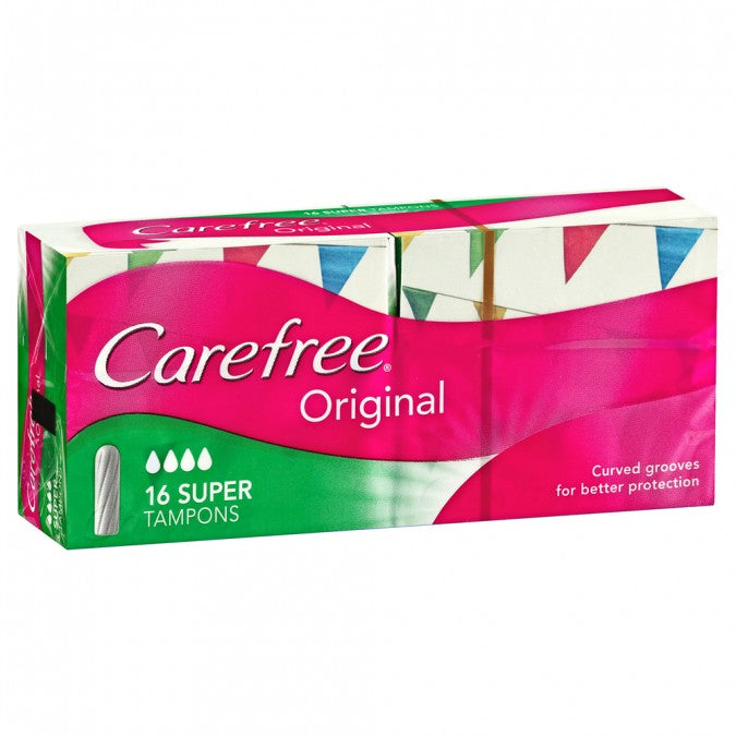 CAREFREE Original Tampons Super 16 Pack