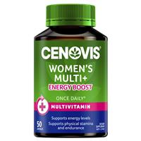 CENOVIS Once Daily Women's Multi + Energy Boost 50 Capsules
