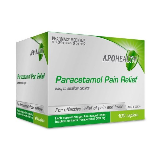 ApoHealth Paracetamol 500mg Caplets X 100 - Best Buy Pharmacy