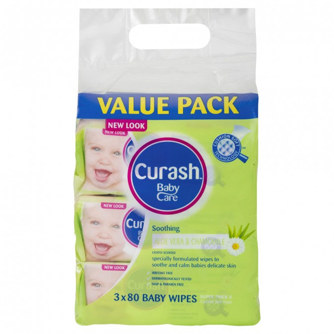 CURASH Soothing Baby Wipes Value Pack 3 Wipes - Best Buy Pharmacy