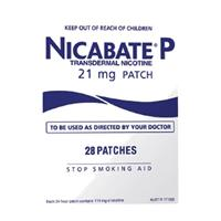 NICABATE P Patch Quit Smoking 21mg 28 Patches