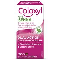 COLOXYL Coloxyl with Senna 200 Tablets