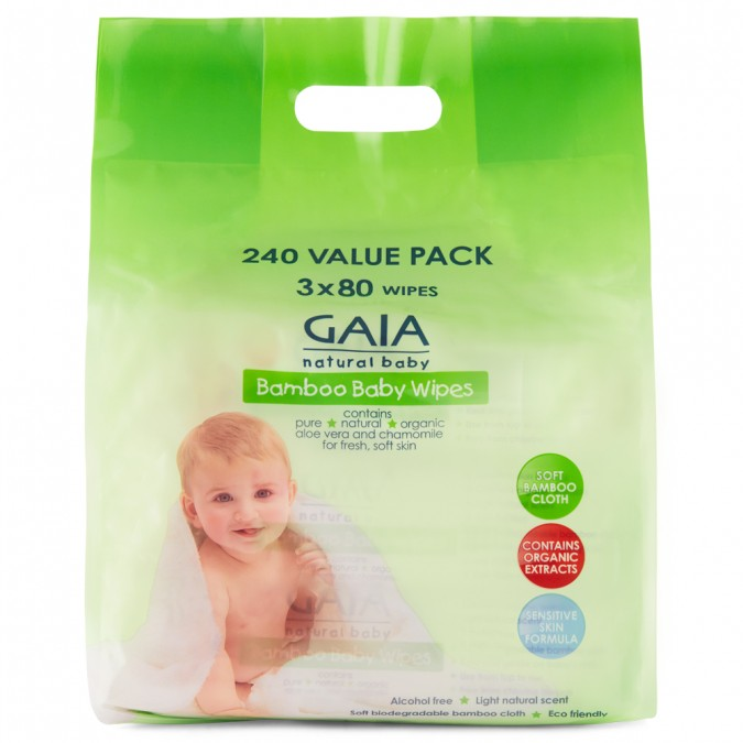 GAIA Natural Baby Bamboo Wipes 240 Wipes - Best Buy Pharmacy