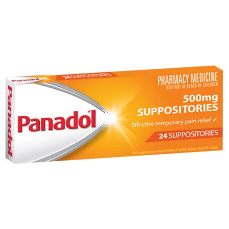 PANADOL SUPPOSITORIES 500MG 24 SUPPOSITORIES - Best Buy Pharmacy