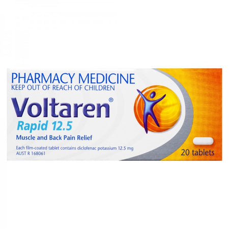 Voltaren Rapid 12.5mg 20 Tablets - Best Buy Pharmacy