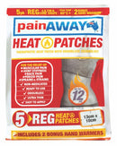 PAIN AWAY Heat Patches Regular - 5 Pack