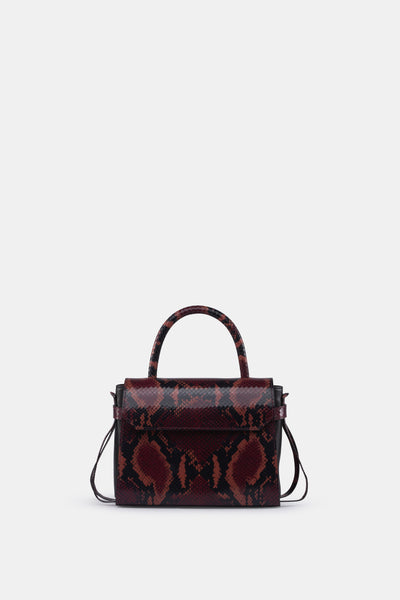 CARI MINI SATCHEL SOFT LEATHER PRINT RED