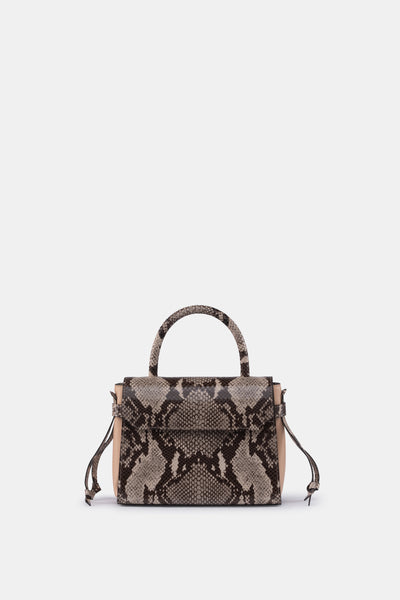 CARI MINI SATCHEL SOFT LEATHER PRINT SAND