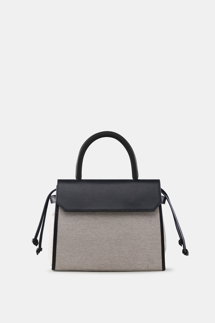 CARI SATCHEL NATURAL BLACK