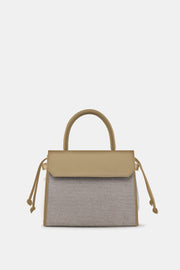 CARI SATCHEL NATURAL ECRU