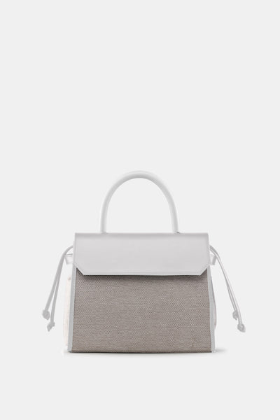 CARI SATCHEL NATURAL WHITE