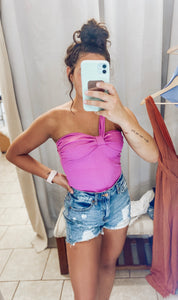 Fuchsia One Shoulder Tank