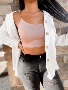 Dusty Mauve Cropped Tank