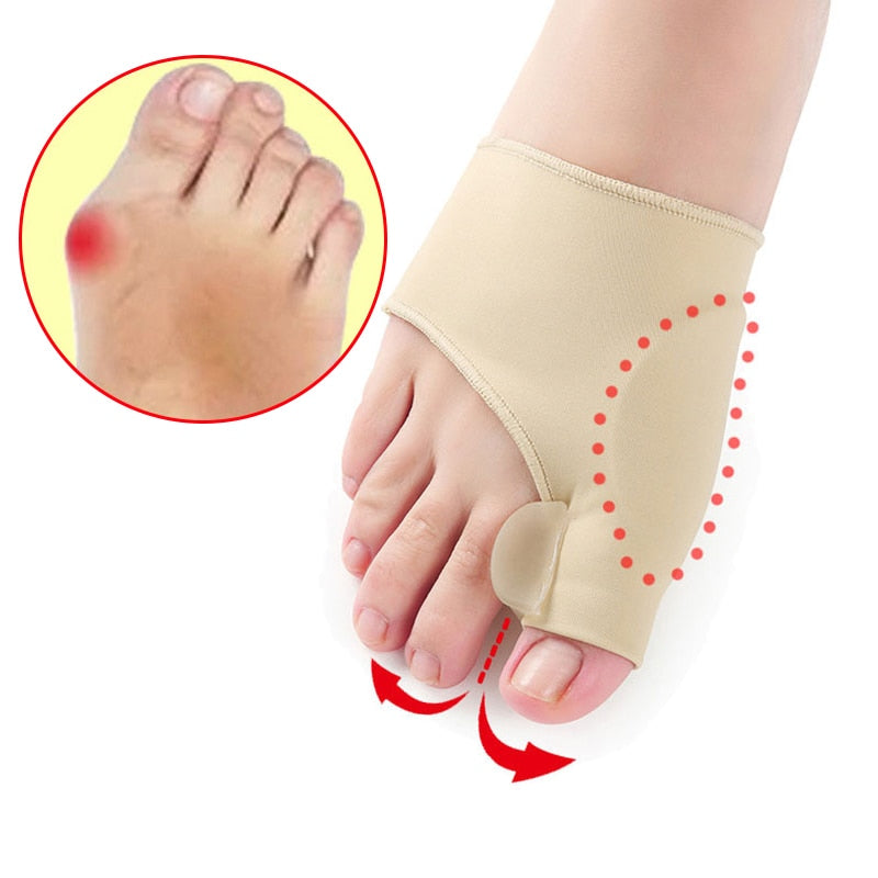 1Pair Toe Separator Hallux Valgus Bunion Corrector Orthotics Feet Bone Thumb Adjuster Correction Pedicure Sock Straightener