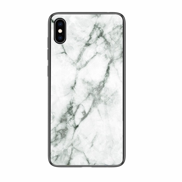 Luxury Silicone Marble Phone Case for iPhone