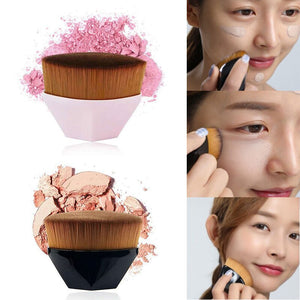 Single Six Corners Powder Makeup Brushes Diamond Cosmetic Hexagon No Trace Foundation Brush Silicone Make Up Brushes